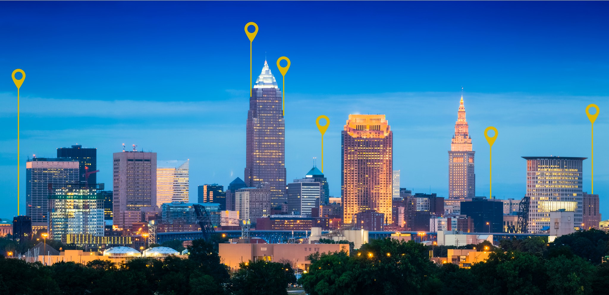 Homepage Cleveland map feature